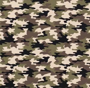 Bilde av French terry med Camouflage Khaki