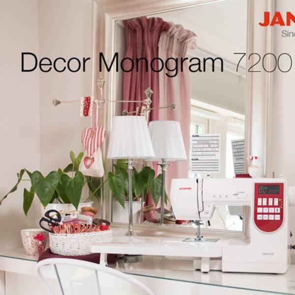 JANOME DECOR MONOGRAM 7200