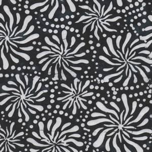 Bilde av Bomullstoff Batiks svart og hvit