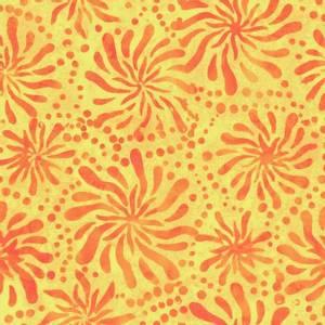 Bilde av Bomullstoff Batiks Orange/Yellow Chrysanthemum