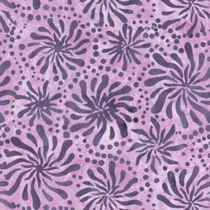Bilde av Bomullstoff Batiks Violet Chrysanthemum