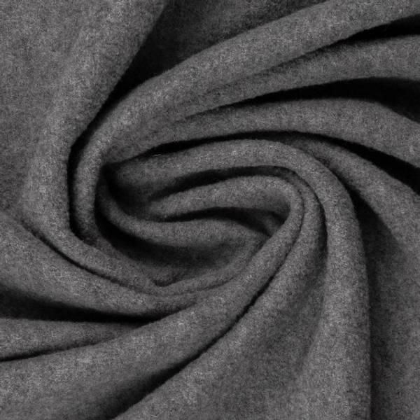 Kokt ull Melert grå