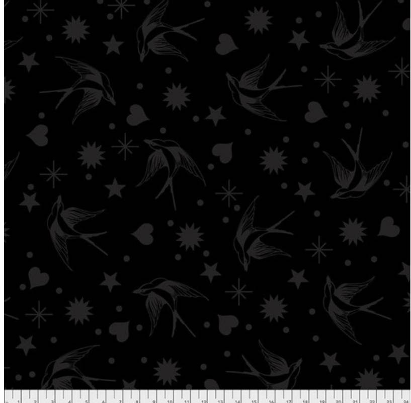 Tula Pink Bomull stoff Fairy Flakes - Ink