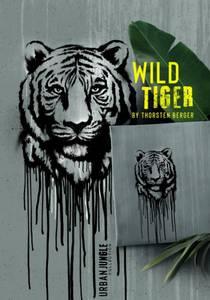 Bilde av Bomullsjersey tiger 65cm panel