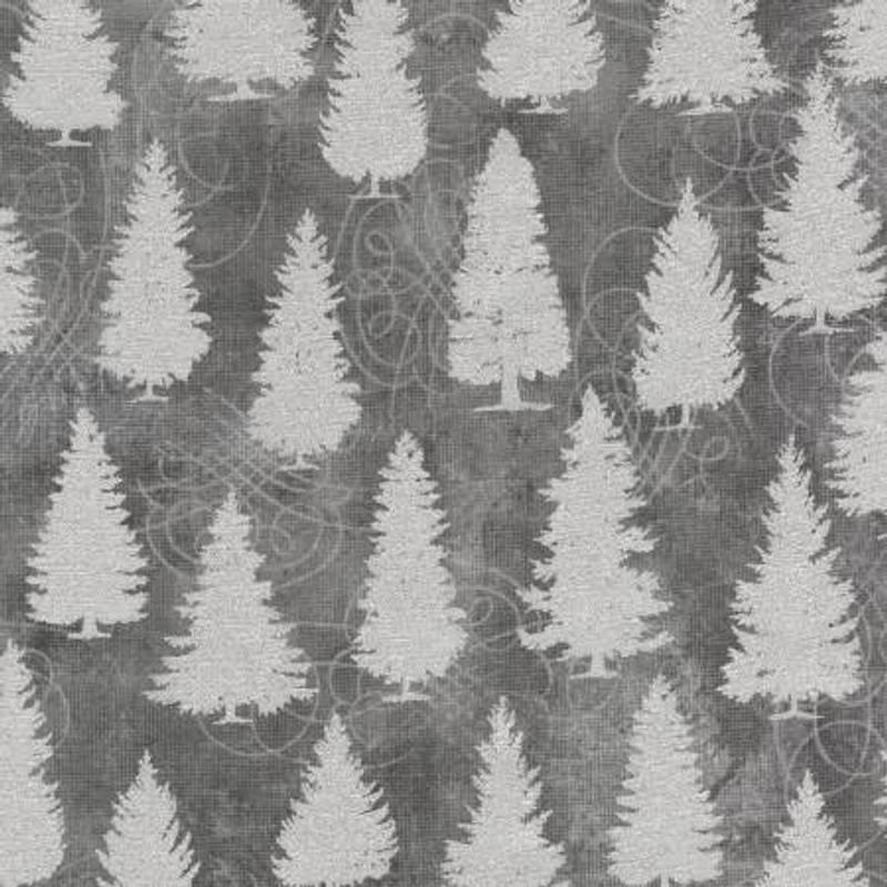 Robert Kaufman Grey Winter's Grandeur w/Metallic