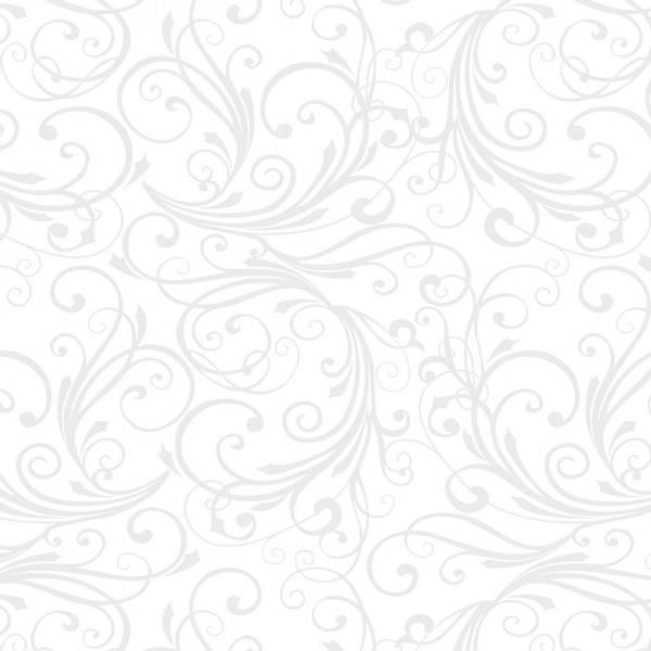 Flanell Hvit Swirl