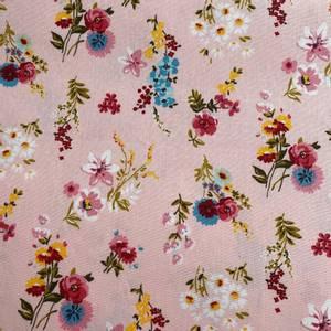 Bilde av Bomull Poplin Blomster Rosa