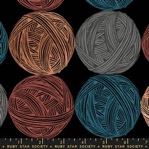 Bilde av Moda fabrics Purl Linen Black Garn