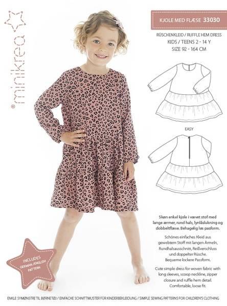Minikrea 33030 Ruffle Hem Dress