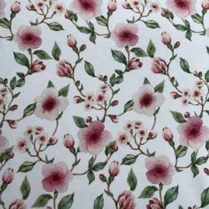 Bilde av French Terry Digital Blossom hvit