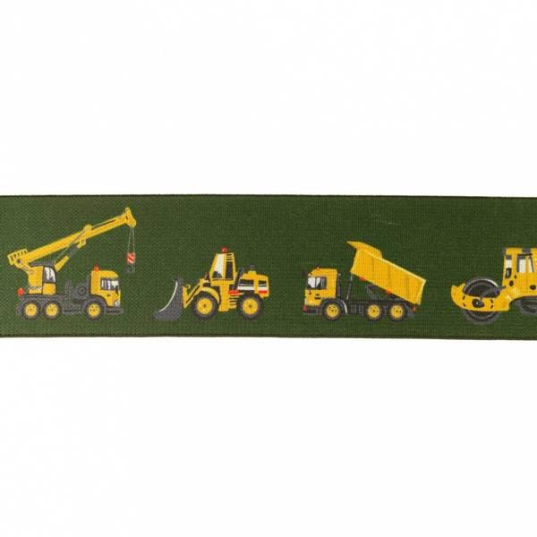 Myk Boxerstrikk med gravemaskiner Grønn