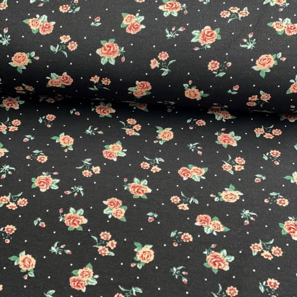 Isoli med Floral Blomster roses svart