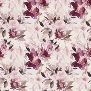 Bilde av Bomulljersey digital multi blomster offwhite