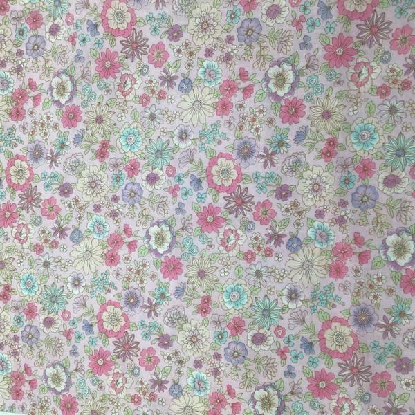 Japansk Bomullstoff med rosa blomster