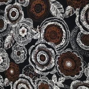 Bilde av Canvas Japansk Bomullstoff med svart og brun