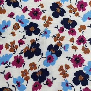 Bilde av Tencel Modal Jersey blomster Off white