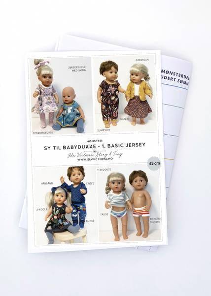 Ida Victoria Sy til babydukke – 1. Basic jersey (43 cm)