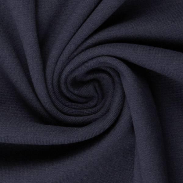 Rundstrikket ribb Uni Navy Mørk Blå