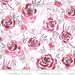 Bilde av Bomullstoff Moody Bloom Digital Magenta
