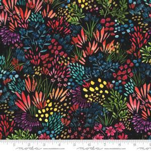 Bilde av Bomullstoff Moody Bloom Digital Black