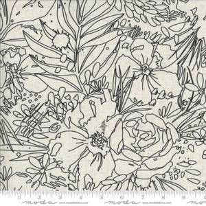 Bilde av 50cm bit halvlin Moda Moody Bloom Mochi Linen