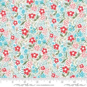 Bilde av Moda Fabrics Farm Charm Multi blomster