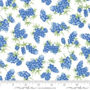 Bilde av Moda Fields of Blue Sky Ivory blue