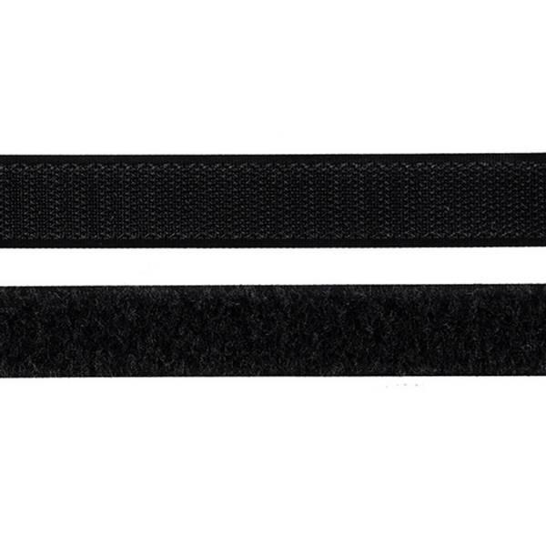 Borrelåsbånd svart 2cm Uten lim