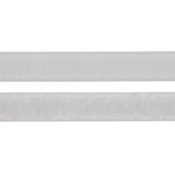Borrelåsbånd hvit 2cm Uten lim
