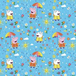 Bilde av Bomulljersey med Peppa Gris i regn