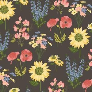 Bilde av Bomullstoff Multi Blomster