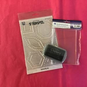 Bilde av Stempel Pakke til Paper Piecing - Svart