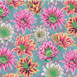Bilde av Kaffe Fassett Bomull stoff Cactus Flower - Tawny