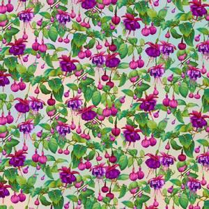 Bilde av Bomull stoff Pastel Fuchsia Flowers