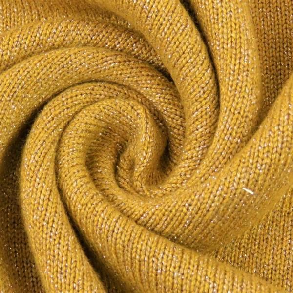 Shine Viskosejersey med glitter gul