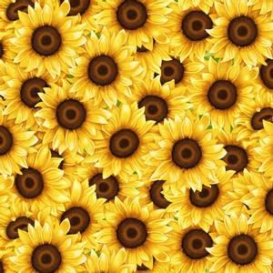 Bilde av Bomull stoff Sunflowers