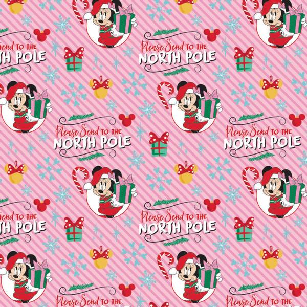 Bomullstoff DISNEY Minnie Mouse Christmas North Pole