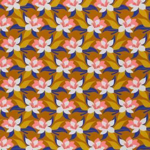 Bilde av Bomulljersey Tropical forest blomster ochre