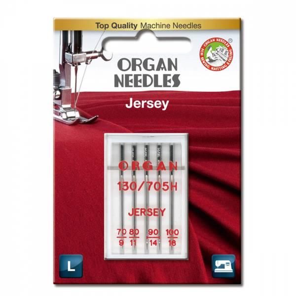 Organ symaskinnåler Jersey #70-100, 5 stk.