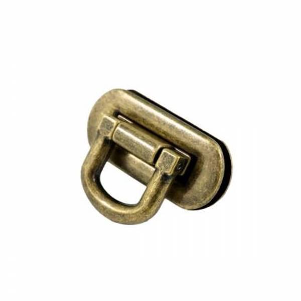 Veskelås Oval Flip Lock Antique Brass By Emmaline Bags