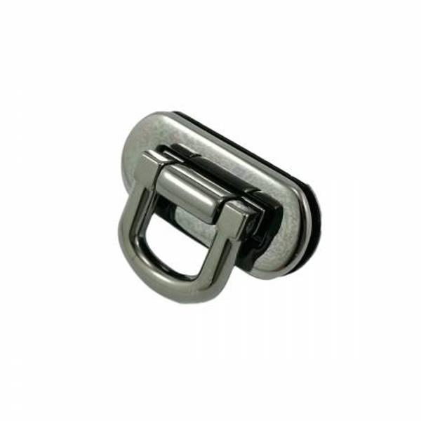 Veskelås Oval Flip Lock Gunmetal By Emmaline Bags