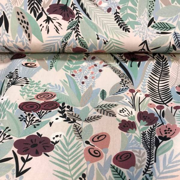 Canvas multi blomster stoff
