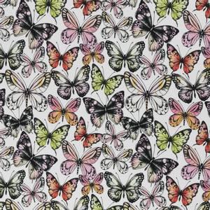 Bilde av Bomullsjersey med sommerfugler hvit