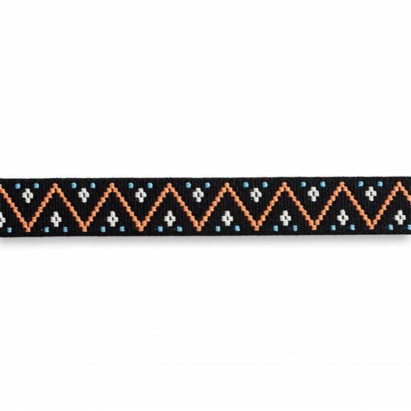 Strikk Farg serrated svart 25mm