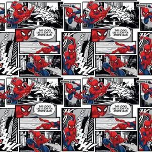 Bilde av bomull stoff Marvel Spiderman