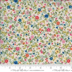 Bilde av Moda fabrics Lulu Packed Floral Linen