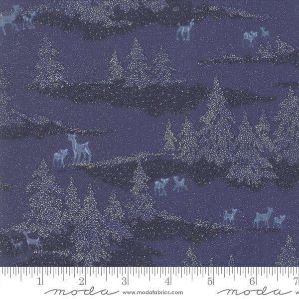 Moda Fabrics Forest Frost Glitter Night blue Sky