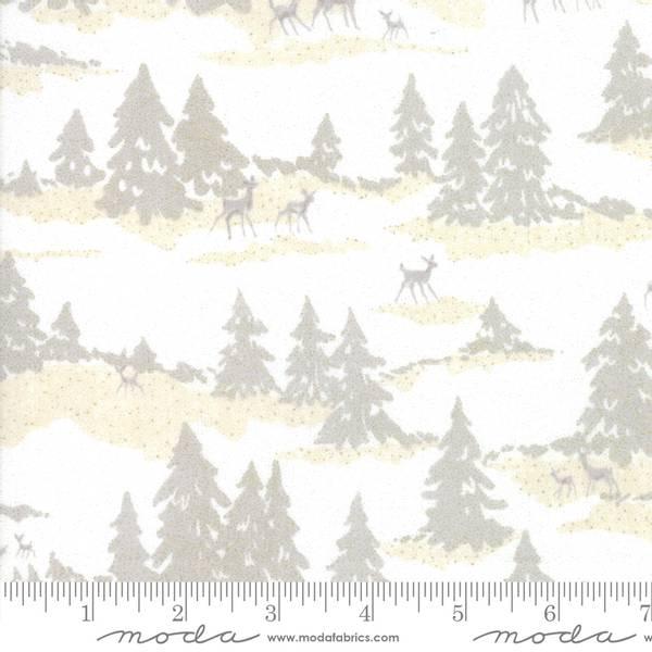 Moda Fabrics Forest Frost Glitter Snow natur