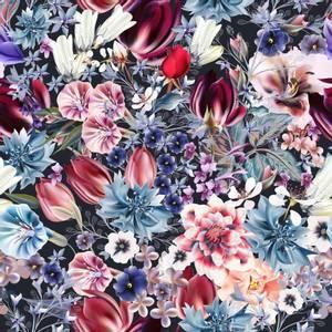 Bilde av Bomulljersey med multi Blomster