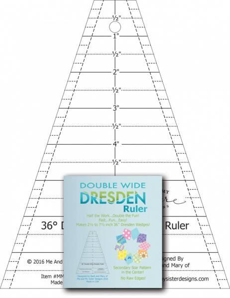 Double Wide Dresden linjal – 36 grader